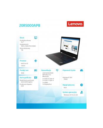 lenovo Laptop L13 Yoga 20R5000APB W10Pro i5-10210U/16GB/512GB/INT/13.3 FHD/Touch/czarny