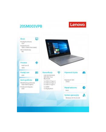 lenovo Laptop ThinkBook 15-IIL 20SM003VPB W10Pro i5-1035G1/8GB/512GB/INT/15.6 FHD/Mineral Grey