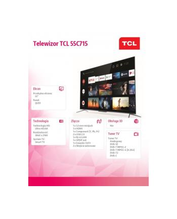 tcl Telewizor QLED 55 cali 55C715