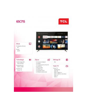 tcl Telewizor QLED 65 cali 65C715