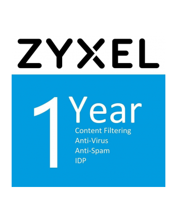 ZYXEL LIC-BUN 1 YR Content Filtering/Anti-Spam/Anti-Virus Bitdefender Signature/IDP License /SecuReporter Premium License for USG210