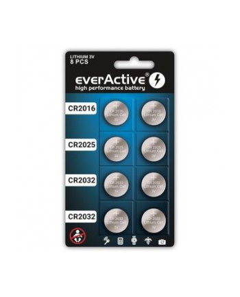 EVERACTIVE ZESTAW BATERII LITOWYCH  4X CR2032; 2X CR2025; 2X CR2016 CRMIX8BL