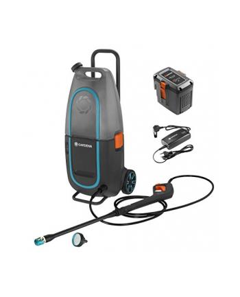 GARDENA battery-pressure washer Aquaclean Li-40/60 set, 40 Volt(gray / turquoise, Li-Ion battery, 2.5 Ah)