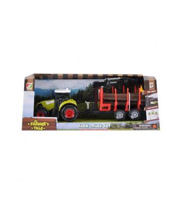 euro-trade Traktor światło dźwięk + akcesoria 39x15x11cm MC