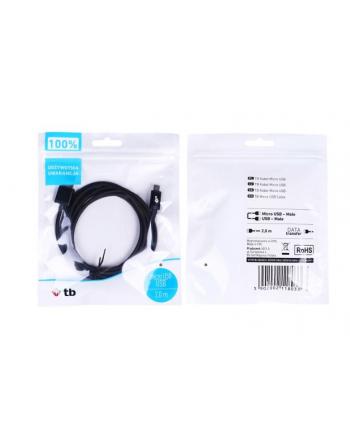 tb Kabel USB-Micro USB 2 m. czarny sznurek