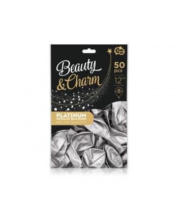 godan Balony Beauty'amp;Charm platynowe srebrne 12'';/50szt