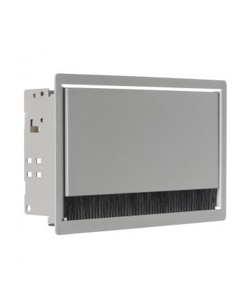 Bachmann 3380203 CONI - kaseta do wbudowania srebrno-szara RAL9006 krótka  wymiary zewnętrzne 248x151 mm  wymiary montażowe 237x139 mm