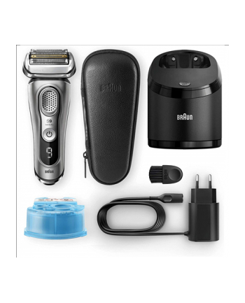 Braun 9385cc Shaver, Cordless, Operating time 60 min, Charging time 1 h, Lithium Ion battery, Wet