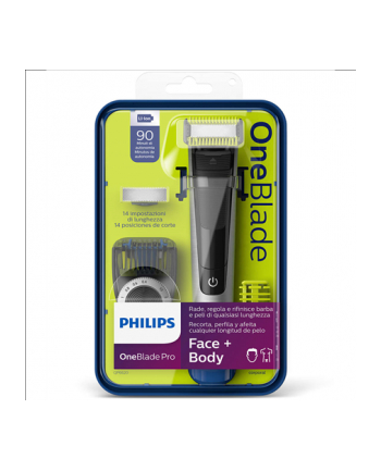 Philips QP6620/20 Shaver, Cord or Cordles, Operating time 60 min, Charging time 1 h, Lithium Ion, Black/Silver
