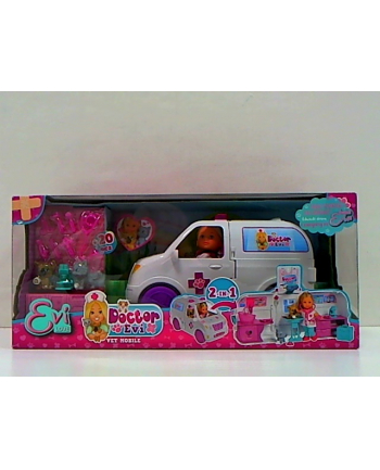Lalka Doktor Evi Ambulans 2w1 Simba