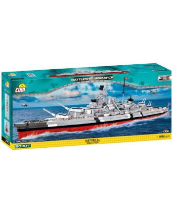 COBI 4819 Historical Collection WWII Battleship Bismarck niemiecki pancernik 2030 klocków