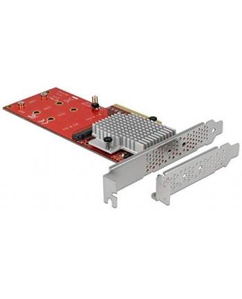 DeLOCK PCIe x8> 2x int. NVMe M.2 Key M LP, adapters