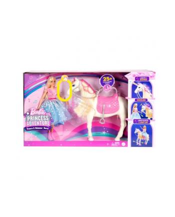 Barbie Przygody Księżniczek Lalka Barbie + koń światła i dźwięki p2 GML79 MATTEL