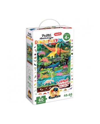 CzuCzu Puzzle obserwacyjne Dinozaury