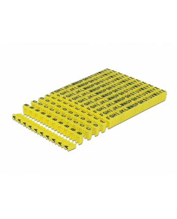 DELOCK Cable Marker Clips A-Z yellow 260 pieces