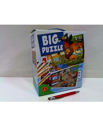 alexander Big puzzle 3 Zwierzęta afryk/Straż pożarna 24692