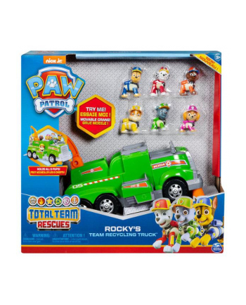 PAW PATROL / Psi Patrol Śmieciarka Rocky'ego Total Team Rescue 6052962 p2 Spin Master
