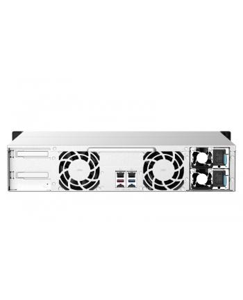 qnap systems QNAP 12-bay Rackmount NAS AMD Ryzen V1000 series V1500B 4C/8T 2.2GHz 8GB DDR4 RAM 2x2.5GbE LAN optional 10GbE ' M.2 NVMe/SATA