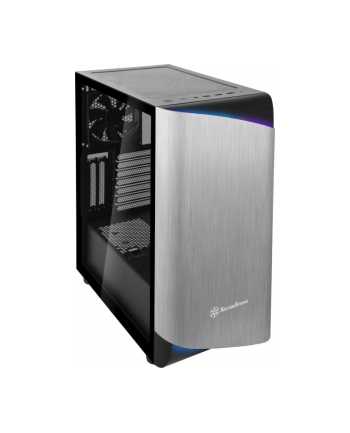 silverstone technology Silverstone SETA A1, tower case(black / silver, side panel made of tempered glass)