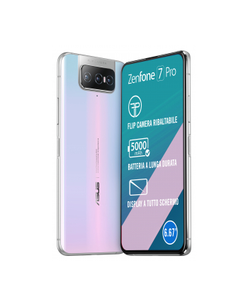 ASUS ZenFone 7 Pro - 6.67 - 256GB, System Android (White, 8 GB DDR 5)