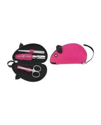 Zestaw podróżny o manicure ZWILLING 97481-002-0 Twin Kids – etui w kształcie myszki  3 elementy różowy