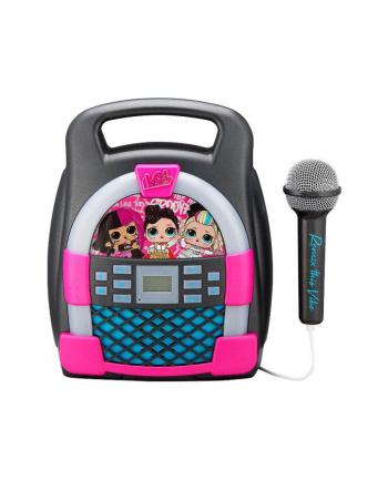 ekids Zestaw do karaoke z mikrofonem, MP3, Bluetooth + efekty świetlne LOL LL-553