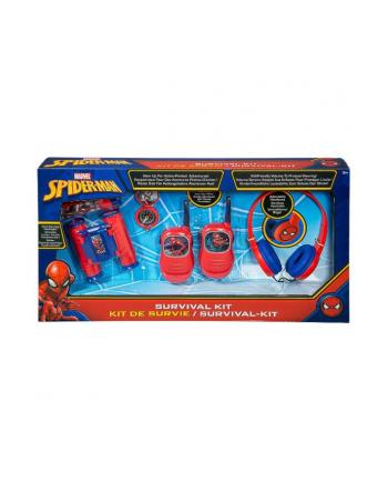 ekids Spiderman Zestaw przygoda 5w1: latarka, kompas, lornetka, walkie talkie, słuchawki  SM-V302