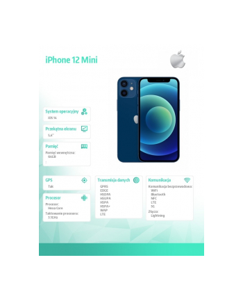 apple iPhone 12 Mini 64GB Błękitny