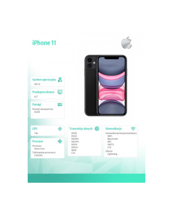 apple iPhone 11 64GB Czarny