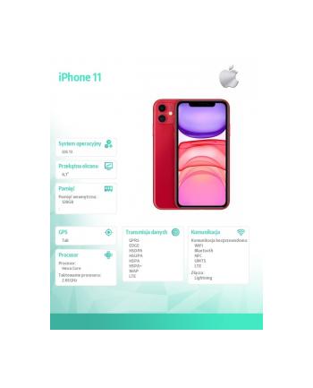 apple iPhone 11 128GB Czerwony