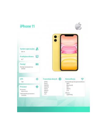 apple iPhone 11 256GB Żółty