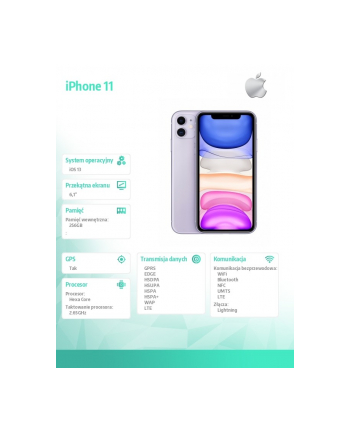 apple iPhone 11 256GB Fioletowy