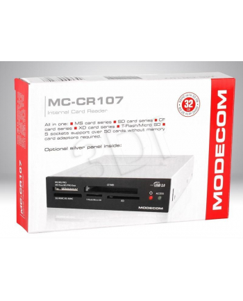 Czytnik kart, MODECOM ALL IN ONE CR-107 BLACK