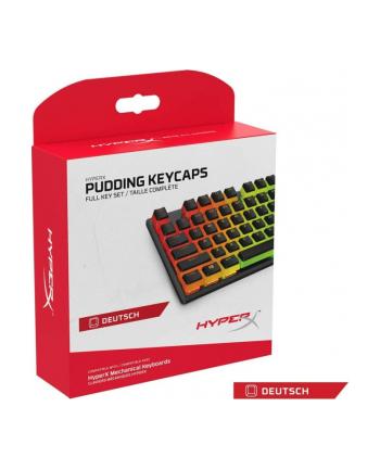 HyperX Pudding Keycaps, Keycap(Black, Full Key Set) j. niemiecki