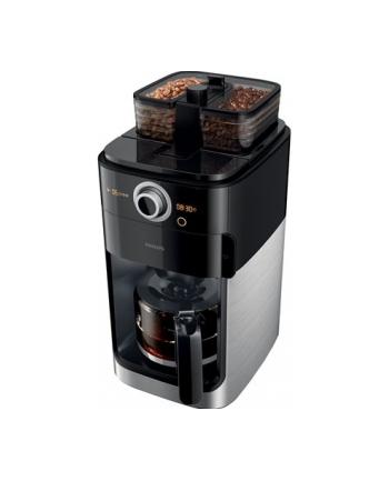Philips Coffee maker Grind ' Brew HD7767/00 Drip, 1000 W, Black/Metal