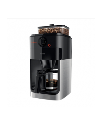 Philips Coffee maker Grind ' Brew HD7767/00 Drip, 1000 W, Black/Metal