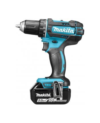 Makita Cordless drill, 18 V, 2x 5,0 Ah Li-ion, 62/36 Nm, 1,7kg, LED