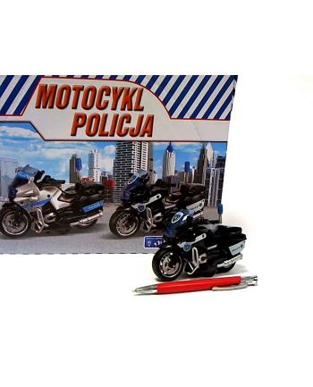 Motocykl Policja 13cm św/dźw napęd HKG103 31393