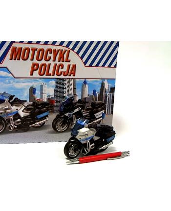 Motocykl Policja 13cm św/dźw napęd HKG104 31409