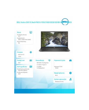 dell Vostro 5301 Win10Pro i5-1135G7/512/8/INT/FHD