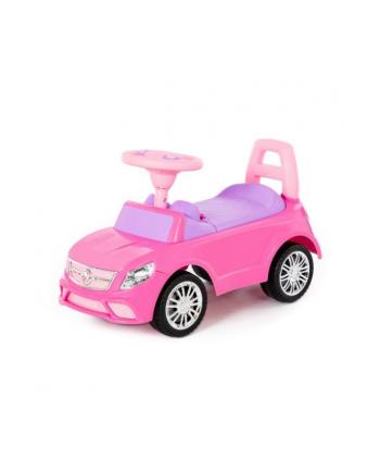Polesie 84491 Samochód-jeździk '';SuperCar''; Nr3 z sygnałem dźwiękowym (różowy)
