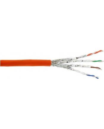 InLine Kabel instalacyjny S/FTP PiMF Cat.7a AWG23 1200MHz halogen Free Pomarańczowy 500m (70500I)
