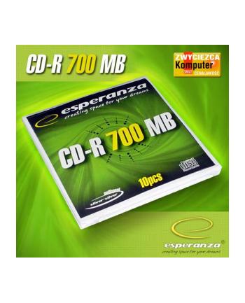 CD-R Esperanza 700MB/80MIN 52xSpeed (Koperta 10szt)