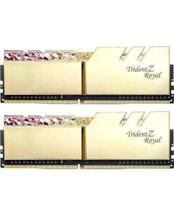 G.Skill DDR4 - 16 GB -3600 - CL - 14 - Dual Kit, Trident Z Royal (gold, F4-3600C14D-16GTRGB)