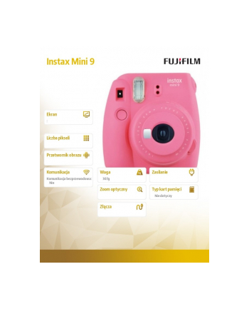 fujifilm Aparat Instax Mini 9 różowy + ramka + etui + album