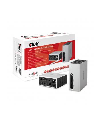 Club 3D Stacja/replikator SenseVision USB 3.0 4K UHD Mini Docking Station (CSV3104D)