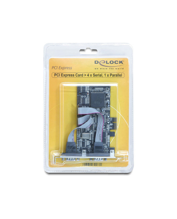 DeLOCK PCI Express card 4 x serial, 1x parallel (89177)