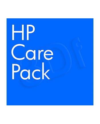 HP Care Pack serwis w m.inst. z reakcją w nast. dn. rob.  z wył. monitora  cały świat  4 lata UE381E