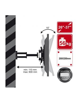 Uchwyt ścienny, dla TV LCD/Plazma 26'' - 37''  uchylny obrotowy 56KG FT