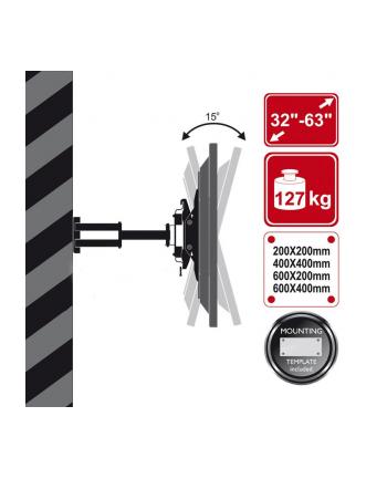 Uchwyt ścienny, dla TV LCD/Plazma 32'' - 63''  uchylny obrotowy 127KG